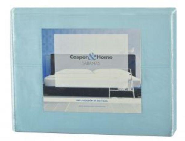 Oferta de Sabanas Casper&Home Azul por $371.93