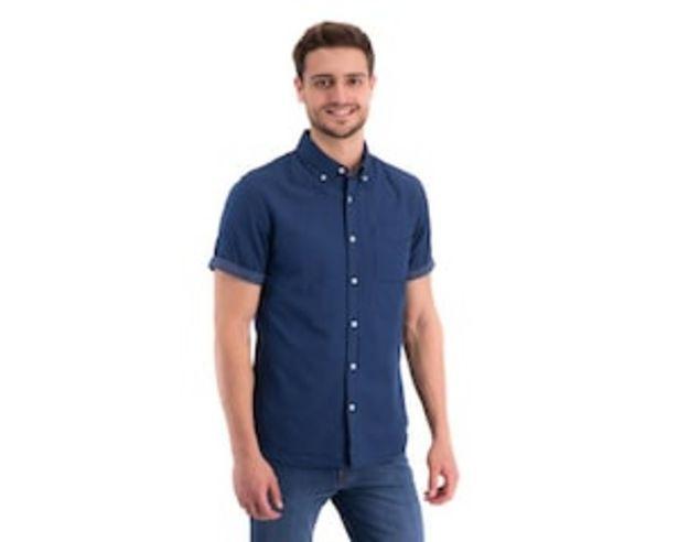 Oferta de Camisa Manga Corta color Azul marca Thinner Men para Hombre por $229