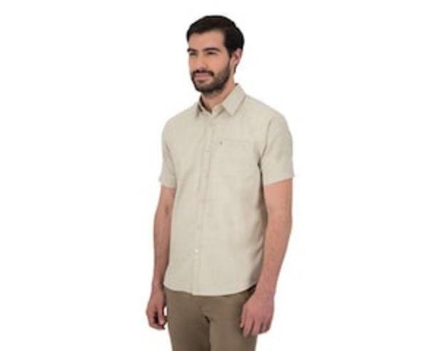 Oferta de Camisa Manga Corta color Beige  marca Wall Street para Hombre por $279