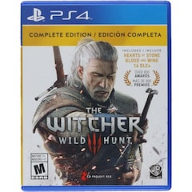 Oferta de The witcher 3: Wild Hunt Complete Edition para PlayStation 4 por $899
