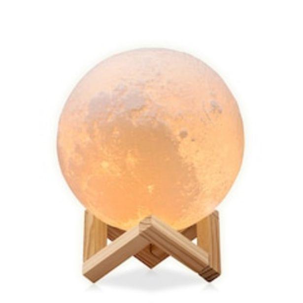 Oferta de Lámpara de Luna en Impresión 3D Réplica Exacta de la Superficie Lunar  12 cm Redlemon 79057 Multicolor por $399