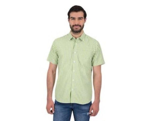 Oferta de Camisa Manga Corta color Verde marca Wall Street para Hombre por $199