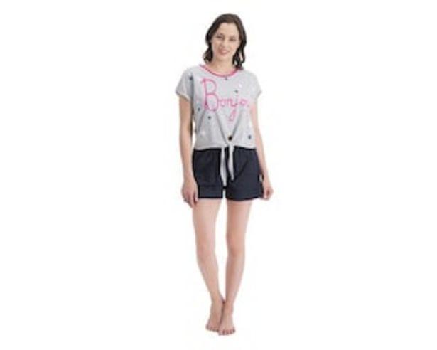 Oferta de Pijama Gris para Mujer Emociones por $149