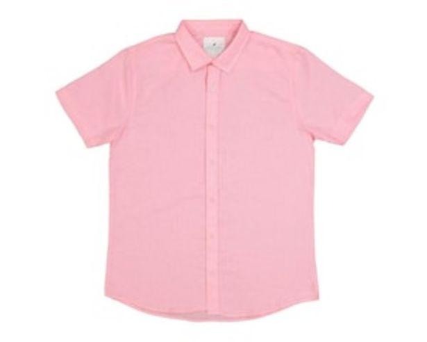 Oferta de Camisa Manga Corta color Rosa marca Refill para Hombre por $129