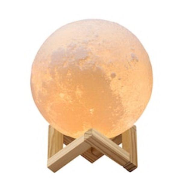Oferta de Lámpara de Luna en Impresión 3D Réplica Exacta de la Superficie Lunar Redlemon 79459 Multicolor por $509