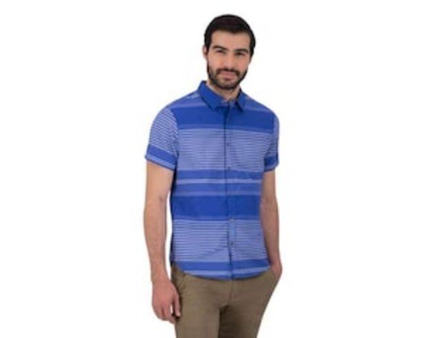 Oferta de Camisa Manga Corta color Azul marca Wall Street para Hombre por $179