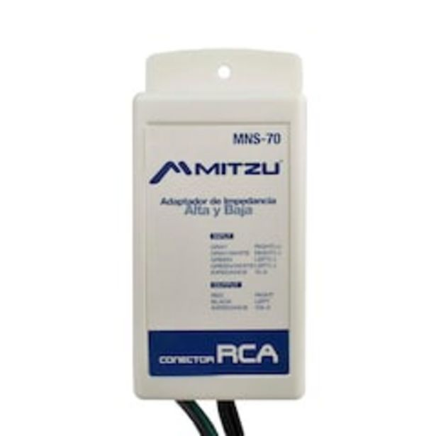 Oferta de Adaptador de Impedancia Mitzu Mns-70 color Negro por $199