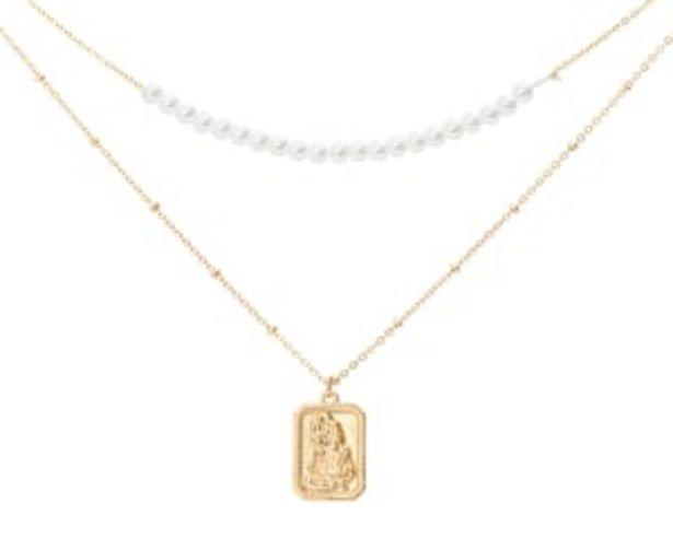 Oferta de Collar Metálico color Dorado marca Thinner para Mujer por $49