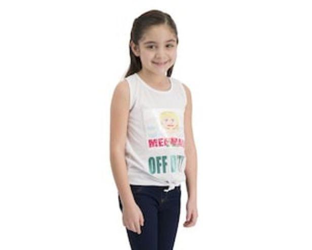 Oferta de Playera Girls Attitude Blanca para Niña por $119