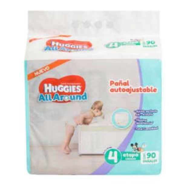 Oferta de Pañales Etapa 4 Huggies All Around 90 pzas por $408.18