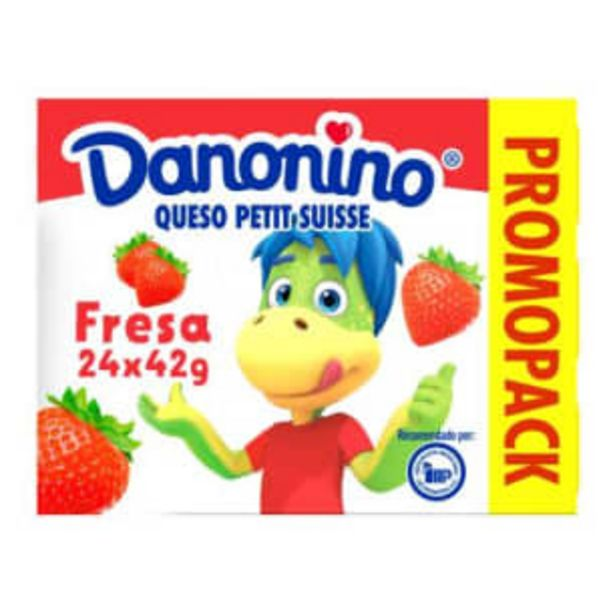 Oferta de   Danonino Queso Petit Sabor Fresa 24 pzas de 42 g por $66.5