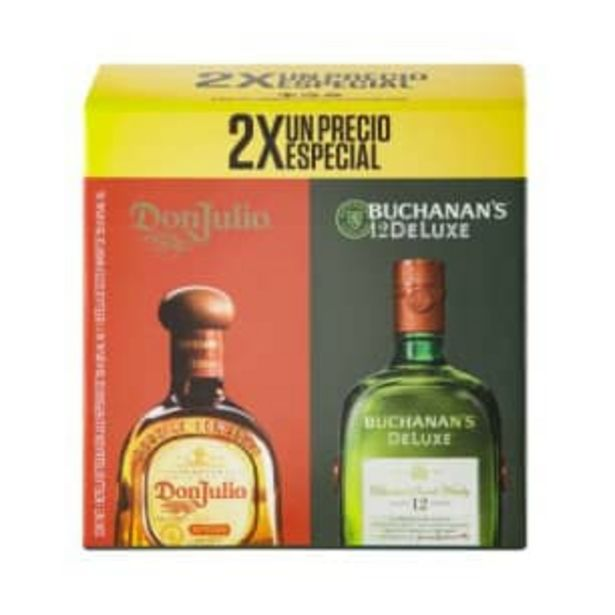Oferta de Whisky Buchanan's 12 De Luxe 750 ml + Don Julio Reposado 700 ml por $725.31