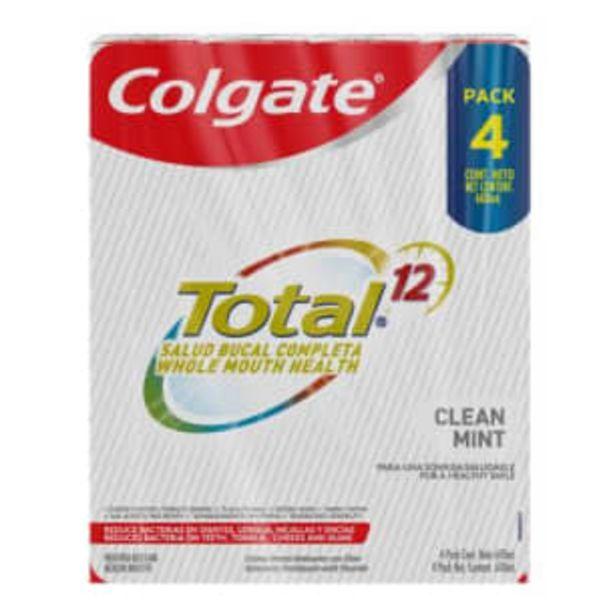 Oferta de Crema Dental Colgate Total 12 Multiprotección 4 pzas de 150 ml por $168.8