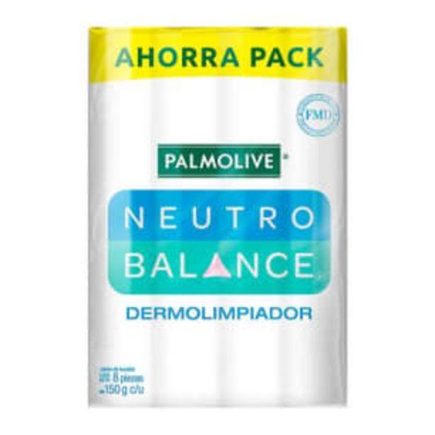 Oferta de Jabón de Tocador Palmolive Neutro Balance 8 pzas de 150 g c/u por $101.28