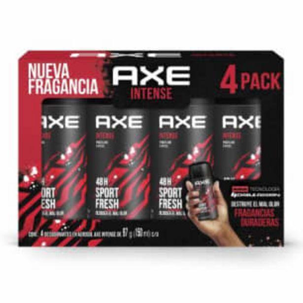 Oferta de Desodorante Axe Intense 4 pzas de 97 g c/u por $111.51