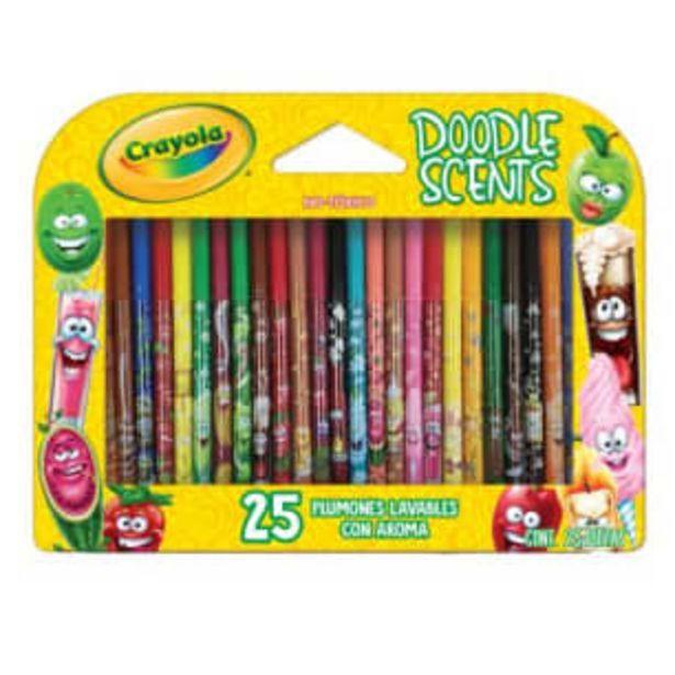 Oferta de Plumones Crayola Doodle Scents 25 pzas por $264.93