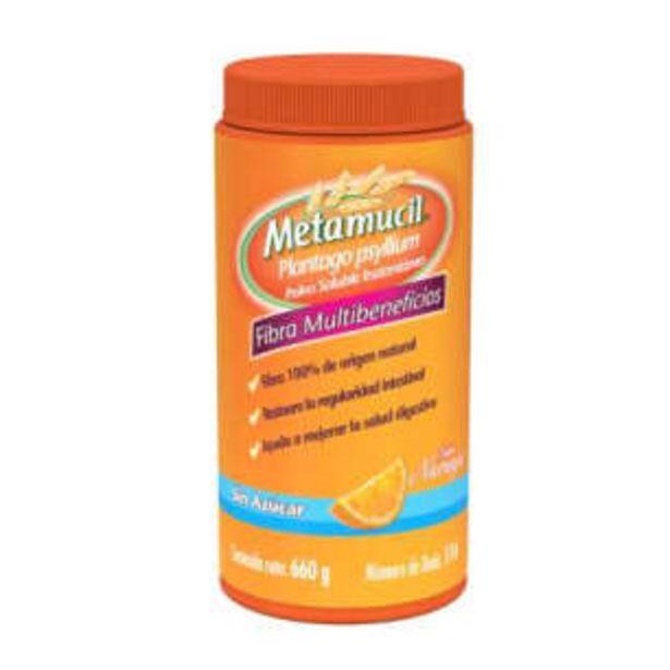 Oferta de Fibra en Polvo Metamucil Sabor Naranja 660 g por $357.03