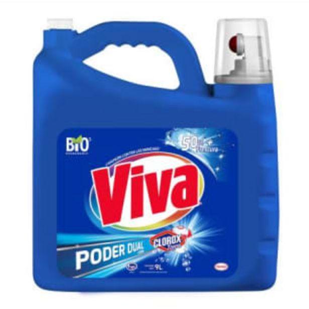 Oferta de Detergente Líquido Viva Poder Dual con Clorox Ropa 9 l por $94.28