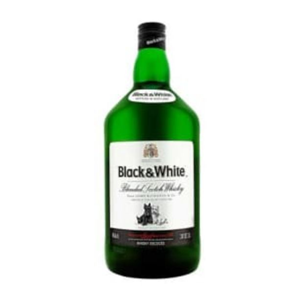 Oferta de Whisky Black & White 1.75 l por $354.98