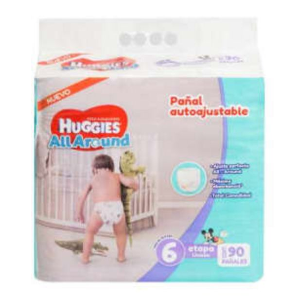 Oferta de Pañales Etapa 6 Huggies All Around 90 pzas por $475.69