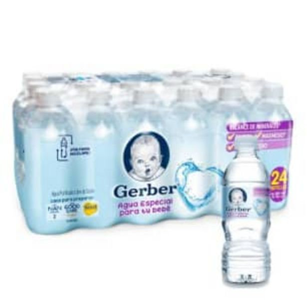Oferta de Agua Gerber 24 pzas de 355 ml c/u por $76.73