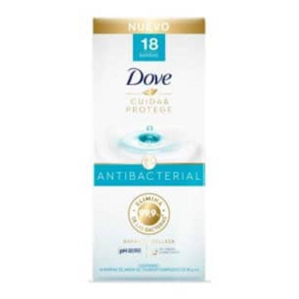 Oferta de Jabón de Tocador Dove Cuida & Protege 18 pzas de 90 g c/u por $183.12