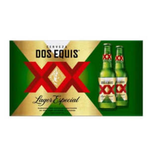 Oferta de Cerveza Clara Dos Equis 24 Botellas de 355 ml c/u por $371.35