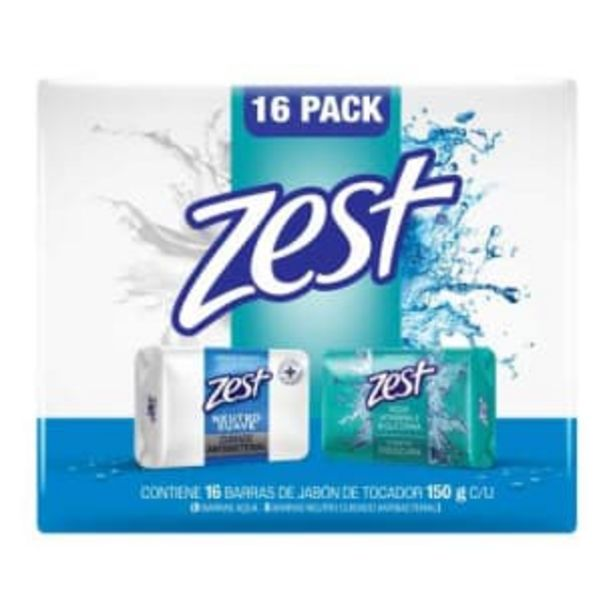 Oferta de Jabón de Tocador Zest Mix 16 pzas de 150 g c/u por $162.66