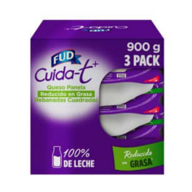 Oferta de Queso Panela Fud Cuidat + Rebanado 3 pzas de 300 g c/u por $122.76