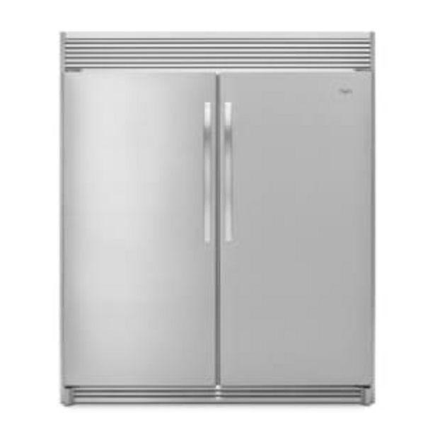 Oferta de Refrigerador Whirlpool Empotrable Sidekick 18 Pies Cúbicos por $64192.4
