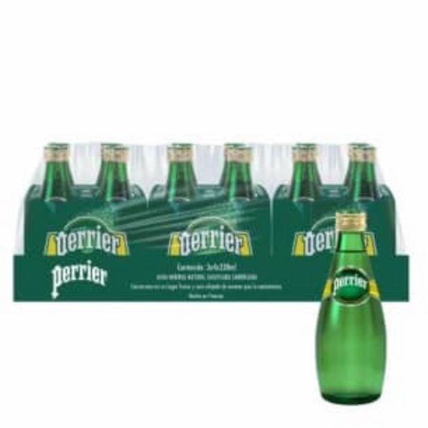 Oferta de Agua Mineral Perrier 12 pzas de 330 ml c/u por $189.26