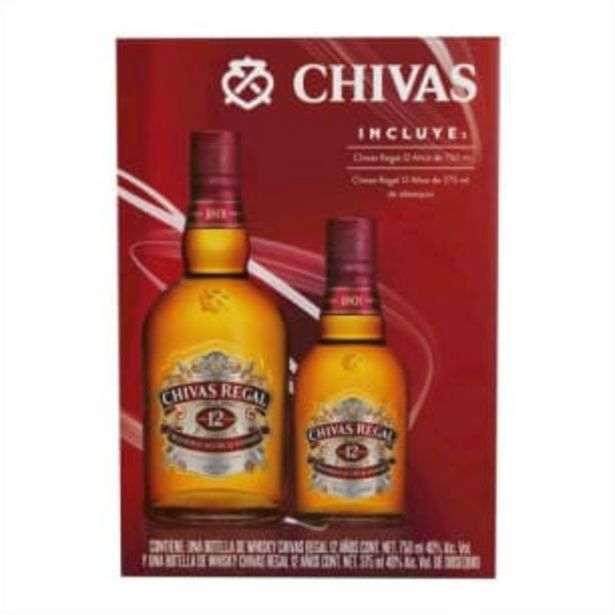 Oferta de Whisky Chivas Regal 12 Años de 750 ml + 1 pza de 375 ml por $530.94
