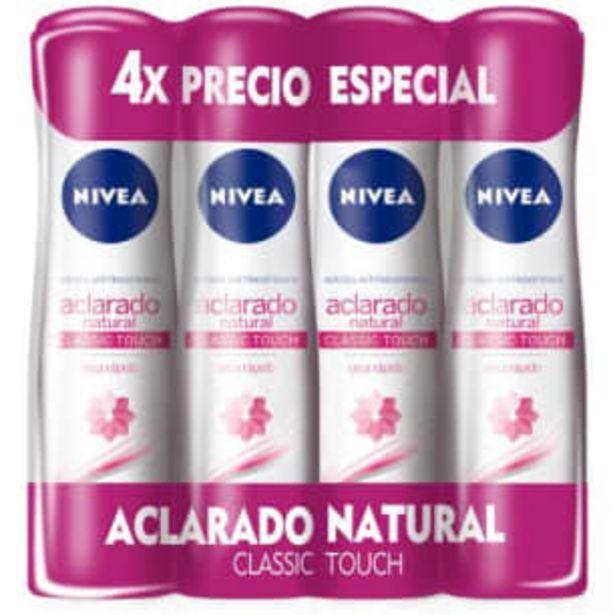 Oferta de Desodorante Nivea Deo Aclarado 4 pzas de 150 ml por $152.43