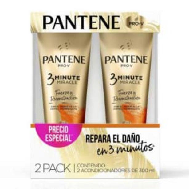 Oferta de Acondicionador Pantene Pro-V 3 Minute Miracle 2 pzas de 300 ml c/u por $131.97