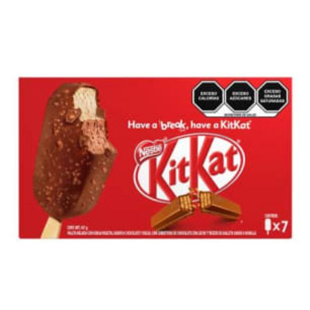 Oferta de Paletas Kit Kat Nestlé 7 pzas por $143.22