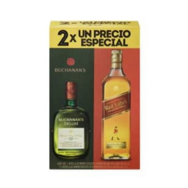 Oferta de Whisky Johnnie Walker 700 ml + Whisky Buchanan's 12 750 ml por $571.86