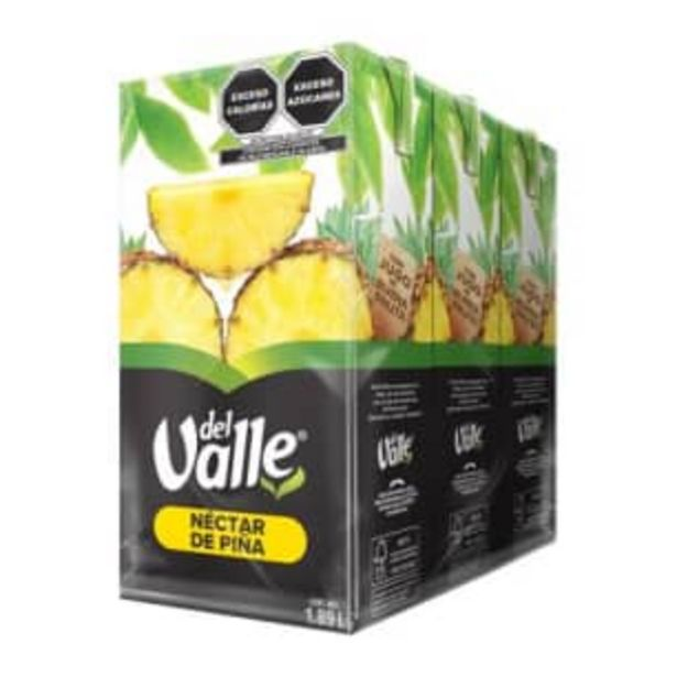 Oferta de Néctar de Piña Del Valle 3 pzas de 1.89 l por $63.43