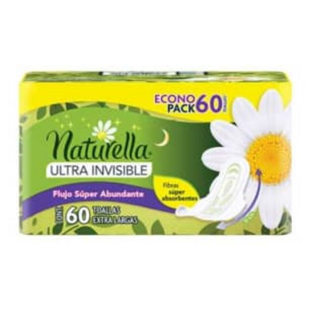 Oferta de Toallas Femeninas Naturella Ultra Invisible con 60 pzas por $121.74