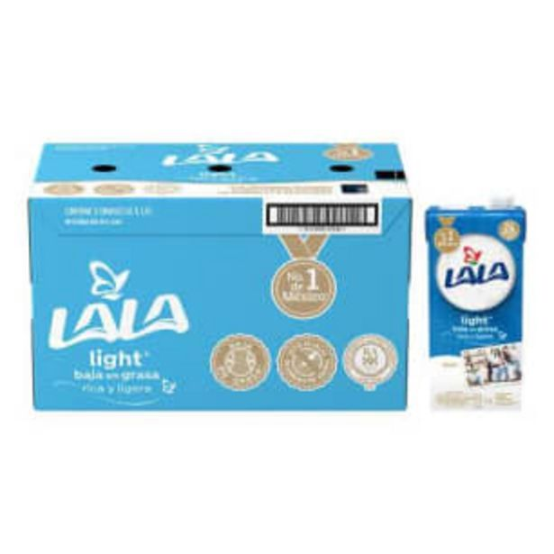 Oferta de Leche Lala Light 12 pzas de 1 l c/u por $246.54