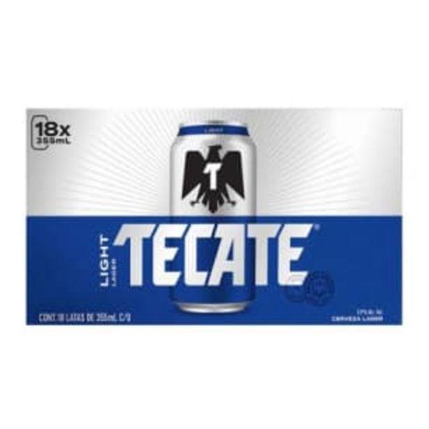 Oferta de Cerveza Clara Tecate Light 18 Latas de 355 ml c/u por $244.48