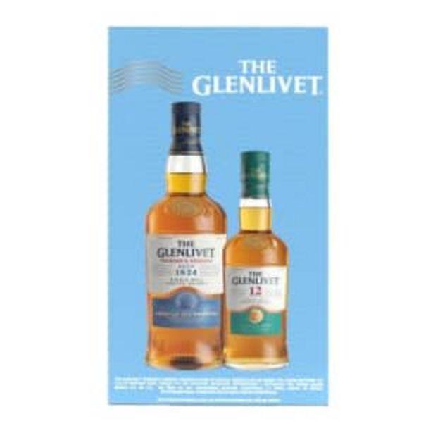Oferta de Whisky The Glenlivet Founder's 750 ml + 1 Glenlivet 12 de 375 ml por $786.69