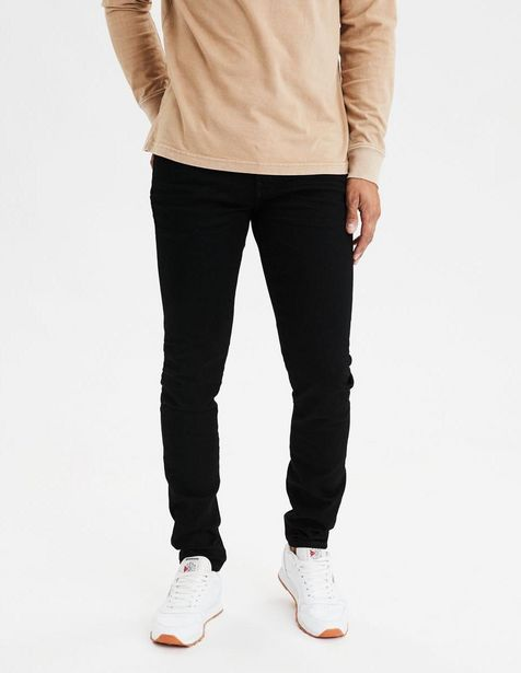 Oferta de Jeans American Eagle corte skinny negro por $549.5