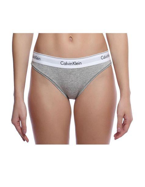 Oferta de Bikini liso Calvin Klein gris por $319.2
