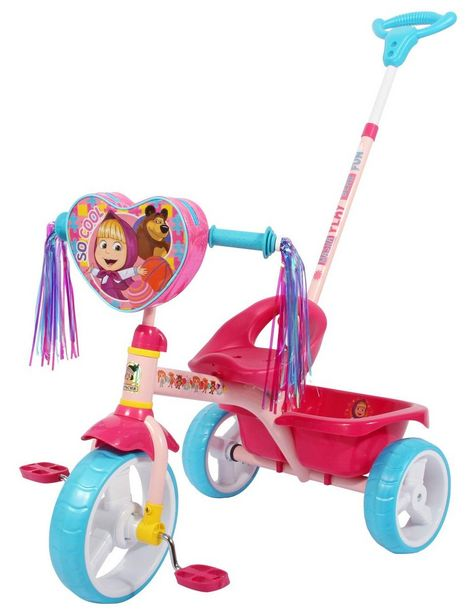 Oferta de Triciclo Apache Masha and the Bear Deluxe Pushbar Trike por $1231.65