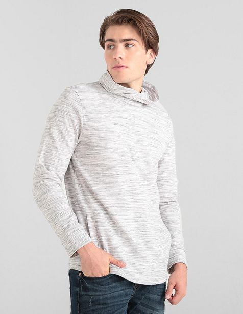 Oferta de Sudadera That's It cuello alto gris jaspeada por $239.6