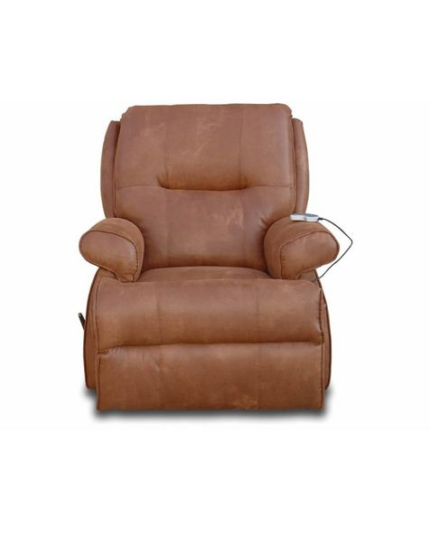 Oferta de Mecedora reclinable Distinción Brasilia Contemporánea camello por $16399.2