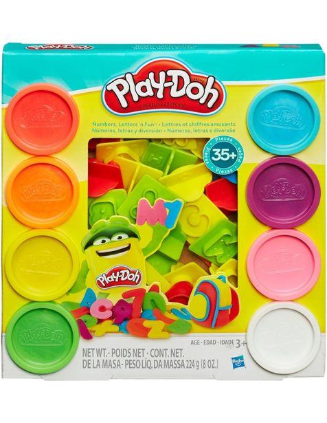 Oferta de Set de plastilina Play-Doh Números, letras y diversión por $220.15
