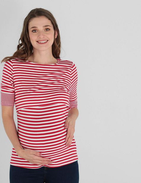Oferta de Playera de maternidad One to Nine a rayas por $249.5