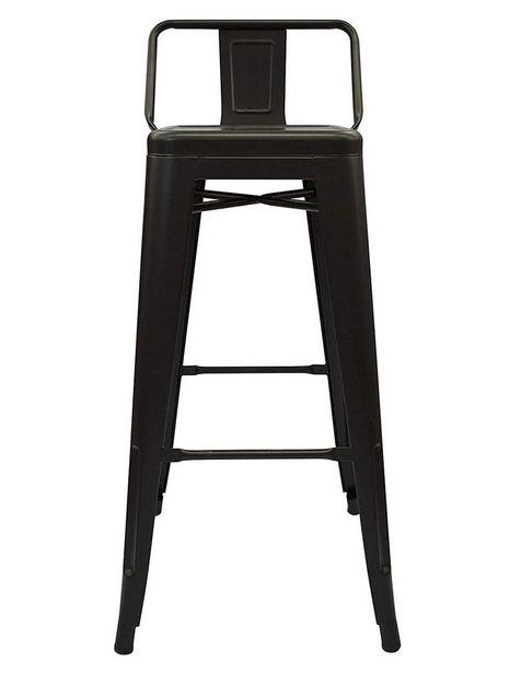 Oferta de Banco alto h by haus Rover Trendy de acero negro por $1599.2