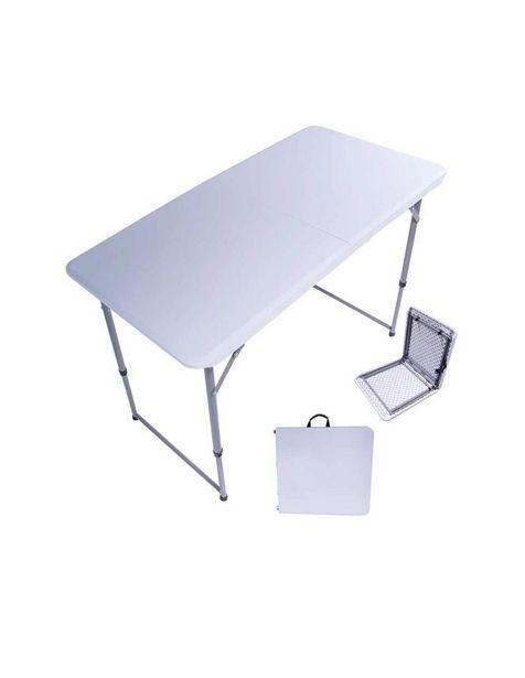 Oferta de Mesa plegable tipo portafolio Jardimex blanca por $1099